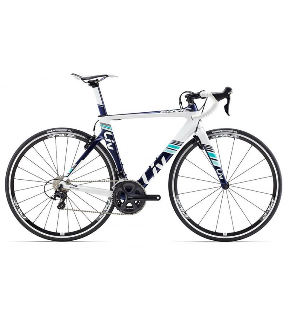 Dettagli Su Bici Giant Liv Envie Advanced 2 S Dark Blue Bicicletta Corsa Donna Giant