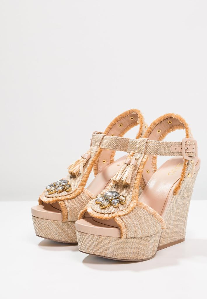 Liu Jo scarpe donna sandali WEDGE MARABU S18079T034 nero beige naturale  Tacco e41002aaa05