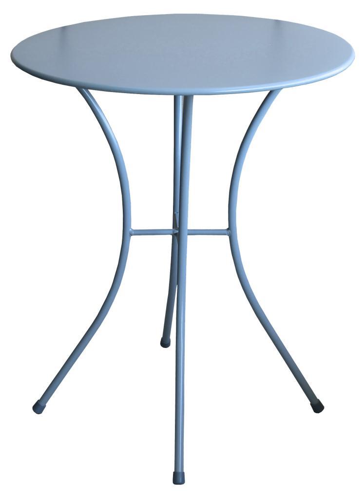 Tavolo Rotondo Da Esterno.Tavolo Rotondo Azzuro Acciaio O 60x72h Cm Tavolino Da Esterno Casa