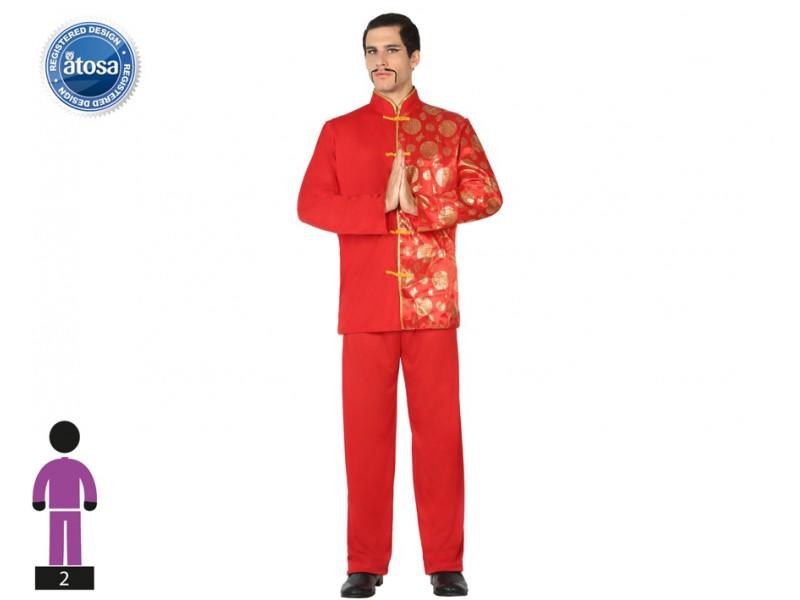 Da Mandarino 2hye9wedi Rosso Uomo Costume Taglia Cinese Colore Abito Ml H2IEDW9Y