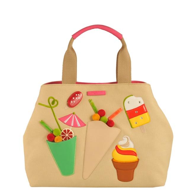 Dettagli su Borsa shopping bag in tessuto con applicazioni e ricami Cocktail party Tosca Blu