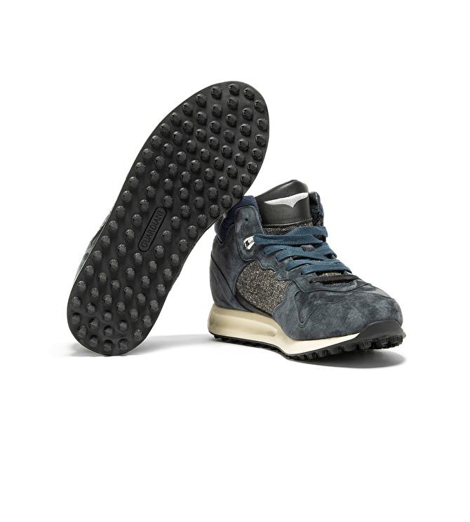 Detalles de Alberto Guardiani scarpe sneaker alte da uomo in pelle e tessuto PATWIN 42 44